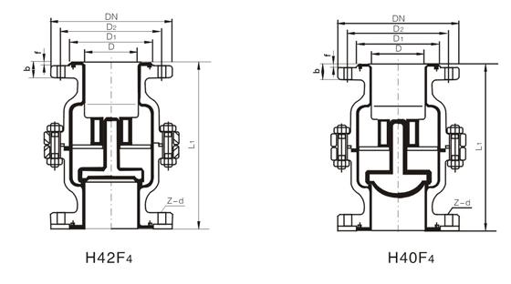 产品概述: H40F46衬氟浮球式止回阀是升降式立式止回阀,适应于立式管道的安装,适用在-50~150的各种浓度的王水、硫酸、盐酸、氢氟酸和各种有机酸、强酸、强氧化剂,FEP立式衬氟止回阀还适用于各种浓度的强碱有机溶剂以及其它腐蚀性气体、液体介质的管路上使用。 制造标准: 设计标准:符合企业标准 结构长度:GBl 2221 法兰标准:JB/Y79-94 GB91131-26 公称压力:10、16、2.
