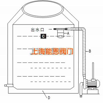 马桶水箱浮子结构图